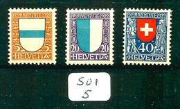 SUI YT 188/191 Manque 189 SBK J21/J24 Manque J22 En X. - Unused Stamps