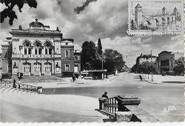ALBI  :LE Théatre Municipal Et L'Avenue Du Colonel Teyssier - Albi
