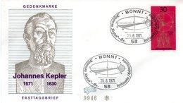 """BRD Schmuck-FDC  """"400. Geburtstag Von Johannes Kepler"""", Mi. 688 ESSt 25.6.1971 BONN 1 - BRD"""