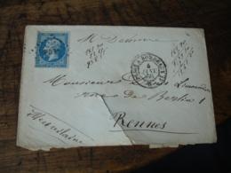 P B  Obliteration Lettre Cachet Ambulant Convoyeur Paris A Bordeaux Poste Ferroviaire - Postmark Collection (Covers)