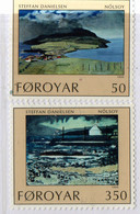 PIA - FAROER - 1990 : Vedute Dell'Isola Di Nolsoy - Dipinti Di Steffan Danielsen  - (Yv  201-04) - Isole Faroer
