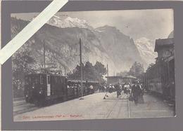 Suisse / Chemin De Fer / Train En Gare / Lauterbrunnen Bahnhof - Suisse
