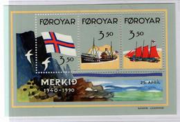 PIA  -  FAROER  -  1990  : Cinquantenario Della Bandiera Delle Faroer  -  (Yv Bf 4) - Isole Faroer