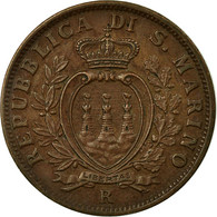 Monnaie, San Marino, 10 Centesimi, 1937, Rome, SUP, Bronze, KM:13 - San Marino