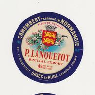 ETIQUETTE DE CAMEMBERT LANQUETOT ORBEC 14 U - Cheese