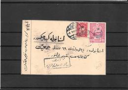 Turkya 1917 Censored Card ,domestic Use (ref 1128) - Storia Postale