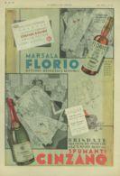 PUB 289 - PUBBLICITA MARSALA FLORIO-SPUMANTI CINZANO - 1933 - Pubblicitari
