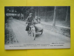 Moto ,Side-car,pneu Hutchinson - Motorbikes