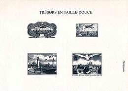 """GRAVURES """"TRESORS EN TAILLE-DOUCE (Phil@poste)"""" - Format 210 X 149 Mm - Documenten Van De Post"""