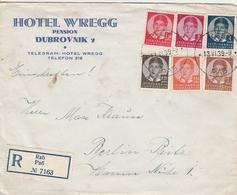 Yougoslavie Lettre Recommandée Pour L'Allemagne 1939 - 1931-1941 Kingdom Of Yugoslavia