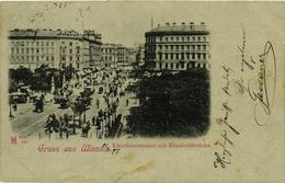 Austria, Wien, Vienna, Karnthnerstrasse Mit Elisabethbrücke, Old Postcard 1898 - Vienna Center