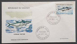 Dahomey - FDC 1965 - YT N°225 - Faune / Poisson - Bénin – Dahomey (1960-...)