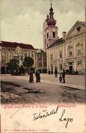 Austria, Niederösterreich, Krems An Der Donau, Stein An Der Donau, Rathhausplatz , Old Postcard Pre. 1905 - Krems An Der Donau