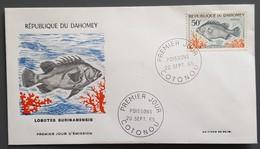 Dahomey - FDC 1965 - YT N°228 - Faune / Poisson - Bénin – Dahomey (1960-...)