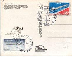 Cachets Commémoratifs Et Timbres ( Français Et Brésilien ) Vol Du Concorde Entre Rio & Paris - Marcophilie (Lettres)