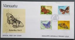 Vanuatu - FDC 1991 - YT N°856 à 859 - Faune / Papillons - Vanuatu (1980-...)