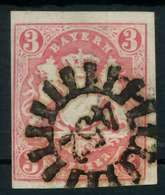 WAPPEN-AUSGABE 1867-1868 Nr 15 GMR 452 Zentrisch Gestempelt X883E92 - Bavaria