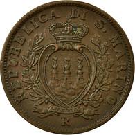 Monnaie, San Marino, 10 Centesimi, 1936, Rome, SUP, Bronze, KM:13 - Saint-Marin