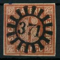 BAYERN QUADRATE Nr 4II GMR 371 Zentrisch Gestempelt X8843CE - Bavaria