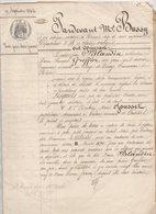 Bretagne Perray Pléchatel Trélan Vente 1863 De 4 Pages - Manuscripts