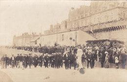 SAINT MALO : Visite Du Ministre De La Marine Thomson Le 23/08/1908 - Rare Carte Photo. - Saint Malo
