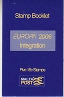 Europa Cept 2006 Malta Booklet ** Mnh (42524) - Europa-CEPT