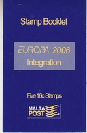 Europa Cept 2006 Malta Booklet ** Mnh (42524) - 2006