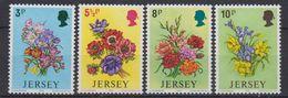 Jersey 1974 Flowers 4v ** Mnh (42525A ) - Jersey