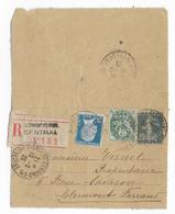 1926 - SEMEUSE - CARTE-LETTRE ENTIER RECOMMANDEE ! De CLERMONT-FERRAND (PUY DE DOME) Avec COMPLEMENT PASTEUR + BLANC - Entiers Postaux