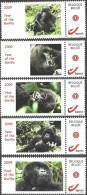 Mystamp MNH  2009 Year Of The Gorilla (5x) - Sellos Privados