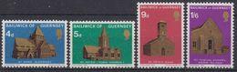 Guernsey 1970 Christmas / Churches 4v ** Mnh (42526A) - Guernsey