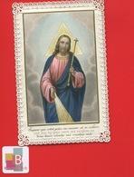Belle Image Pieuse Canivet Dentelle Turgis JESUS - Devotion Images