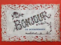 1907 - BONJOUR DE SCHAERBEEK - PAILLETTES - GLITTERS - Schaerbeek - Schaarbeek