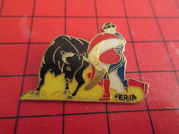 411e Pins Pin's  / Rare, Belle Qualité / THEME SPORTS : TAUROMACHIE CORRIDA FERIA VACHE VACHETTE TOREADOR - Feria