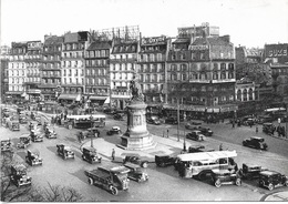 75 - PARIS 1900 - Place Clichy - Plusieurs Anciennes Voitures  - Carte Animée - Cpm - Vierge - - Places, Squares
