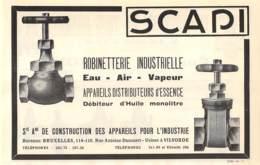 1927 - VILVORDE - Rue Antoine Dansaert - Robinetterie Industrielle SCAPI - Dim. 1/2 A4 - Advertising