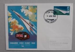 Premier Vol Concorde 002  -  09.04.1969 Filton Bristol - 1952-1971 Pre-Decimal Issues