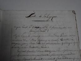 Manuscrit, SUITE De La LOGIQUE, Vers 1820, Environ 75 Pages - Manuscritos
