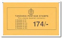 Tanzania 1990, Postfris MNH, Birds ( Booklet ) - Tanzania (1964-...)