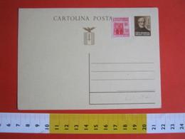 PC.1 ITALIA INTERO POSTALE POST CARD NUOVO - 1944 REPUBBLICA SOCIALE 30 CENT MAZZINI GLADIO AQUILA - 4. 1944-45 Repubblica Sociale