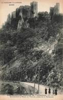 07 Les Ruines Du Chateau De Ventadour Surplombant La Route Du Pont De Labeaume à Montpezat - Autres Communes
