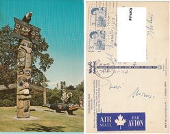CanadaThunderbird Park Victoria Totem Poles Indiani Nord America - Victoria
