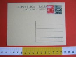PC.1 ITALIA INTERO POSTALE POST CARD NUOVO - 1948 REPUBBLICA 12 LIRE VERDE CREMA OLIVO AGRICOLTURA - Agricoltura
