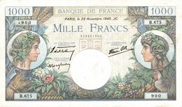 5563 -2019     BILLET  1000F COMMERCE ET INDUSTRIE  DU 28-11-1940 - 1871-1952 Anciens Francs Circulés Au XXème