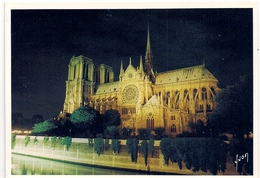 Cpm 75 Paris 1 Cathédrale Notre Dame La Nuit - Notre Dame De Paris