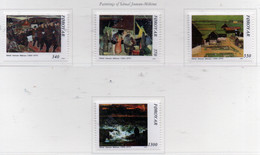PIA  -  FAROER  -  1991  : 85° Anniversario Della Nascita Di Samal Joensen - Pittore E Scultore -  (Yv 217-20) - Isole Faroer