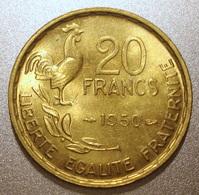 France - Pièce De Monnaie 20 Francs Georges Guiraud 1950 3 Faucilles Superbe - France