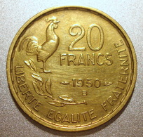 France - Pièce De Monnaie 20 Francs G. Guiraud 1950 B 4 Faucilles - Francia