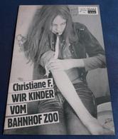 """Natja Brunkhorst, Thomas Haustein > """"Christiane  F. - Wir Kinder Vom Bahnhof Zoo"""" > Altes NFP-Filmprogramm '1981 (fp112) - Zeitschriften"""