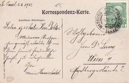 AUTRICHE 1912 CARTE POSTALE AVEC CACHET FERROVIAIRE/ZUGSTEMPEL - 1850-1918 Empire